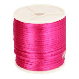 786 Japans satijnkoord knal roze 3mm