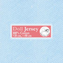 Licht Blauw Doll Jersey 25 x 80cm