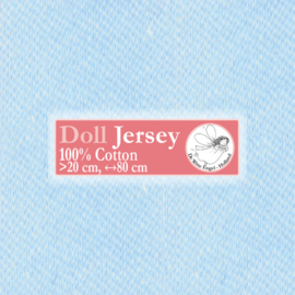 "Light Blue Doll Jersey 25x80cm / 9.8""x31.5"""