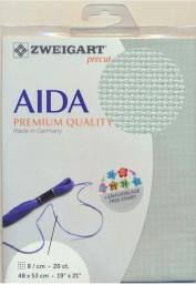 Oud Groene Aida Zweigart 8kr/cm - 20ct 48x53cm