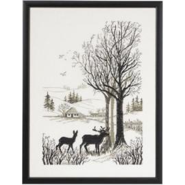 Roe deer Eavenwave borduurpakket - Permin