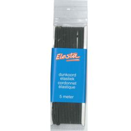 Elasta dun koord elastiek 1,5mm Zwart