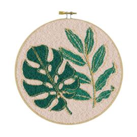 Botanic met gouddraad Punch Needle pakket - Restyle