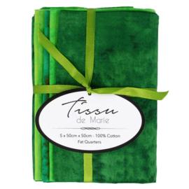 04 Gewolkte Bundel groen tinten Tissu de Marie