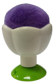 Purple Tulip Pincushion with Suction Cup