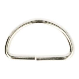 D-ring metaal 30mm nikkel