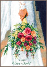 Bruidsboeket Aida Telpakket - Vervaco