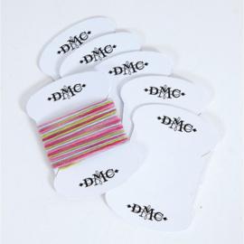 6 Kartonnen Wikkelkaartjes DMC