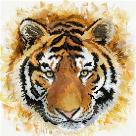 Tiger Charge voorbedrukt Needleart World