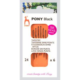 Black tapestry Needles No. 24 - Pony