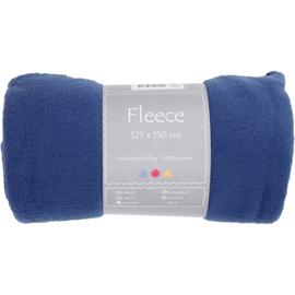 Blauwe Fleece deken