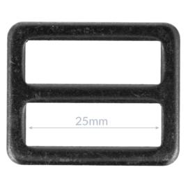 25mm Gesp metaal Gun Black