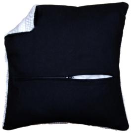 Kussenrug 45 x 45cm Zwart met rits