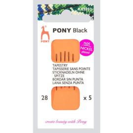 Black tapestry Needles No. 28 - Pony