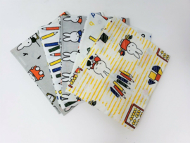 Miffy at School - Nijntje op School - Quiltstof Pakket Fat Quarters