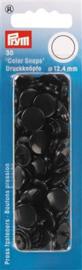 Zwarte Color Snaps Ronde Drukknopen Prym