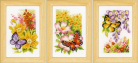 Vlinders en Bloemen Aida Miniatuur Vervaco Telpakket