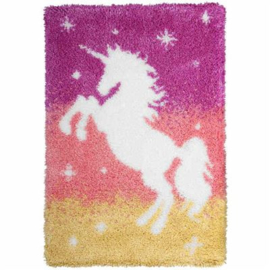 Unicorn Latch-Hook Rug Kit Orchidea