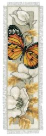 Vlinders en bloemen II boekenlegger Aida Telpakket Vervaco