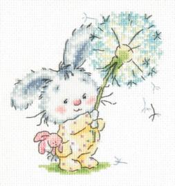 Bunny and dandelion Aida telpakket - Magic Needle