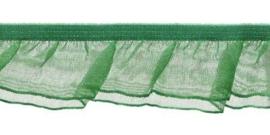 Groen 27mm Roezel Elastiek met Dubbele Roezel