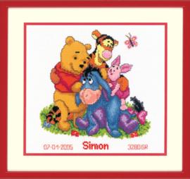 Winnie the Pooh en Vrienden Aida Vervaco Telpakket
