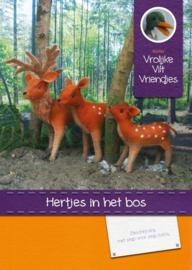 Pakket Hertjes in het Bos Vrolijke Vilt Vriendjes