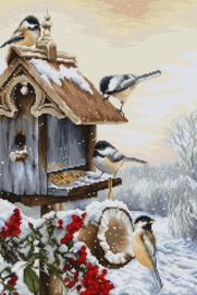 Bird House Aida borduurpakket - Luca-S