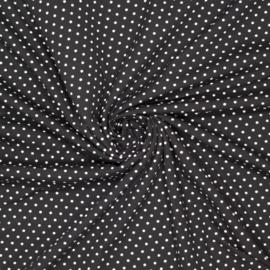 Polkadot Zwart Tricot - Ilja Fabrics