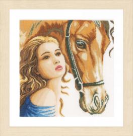 Vrouw met paard Eavenwave Telpakket Lanarte