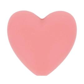 Oud Rose hartjes Siliconen kralen Opry
