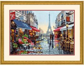 Paris Flower Shop Paint by Number