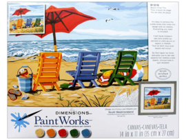 Beach chair trio PBN - Dimensions