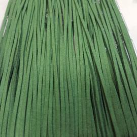 721 Groen met Glitter 3mm Imitatieleer Band  p.m.