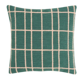 Squares Angled Clamping Stitch Cushion Canvas La Maison Victor