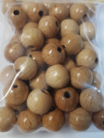 """10mm/0.4"""" 56pcs. Lacquered Wooden Beads"""