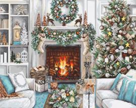 Christmas Interior Aida borduurpakket - Luca-S