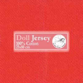 "Red Doll Jersey 25x80cm / 9.8""x31.5"""