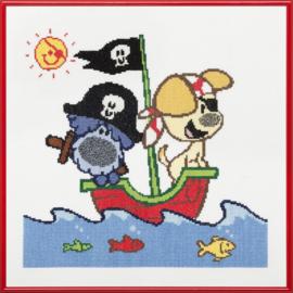 Woezel & Pip op avondtuur met het piratenschip Aida telpakket Pako