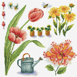 Garden Sampler 1  Voorbedrukt Borduurpakket Needleart World
