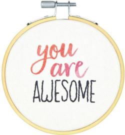 Embroidery kit You Are Awesome
