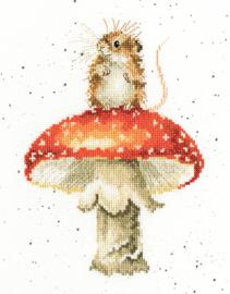 He's A Fun-gi Aida Wrendale Designs by Hannah Dale Bothy Threads Borduurpakket XHD74