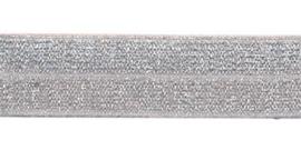 Zilver 20mm Elastisch Biaisband
