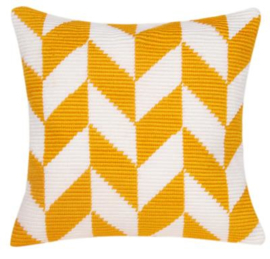 Herringbone Pattern Angled Clamping Stitch Cushion Canvas La Maison Victor