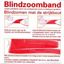 Zwart Blindzoomband Vlieseline