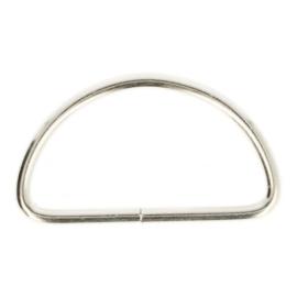 D-Ring 50mm ijzer - nikkelkleur