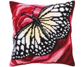 Butterfly Graphics Voorbedrukt Kruissteekkussen Collection D'Art