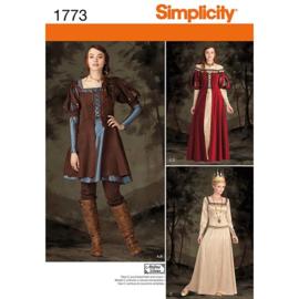 1773 H5 Misses' Fantasy Costume Simplicity 32-40