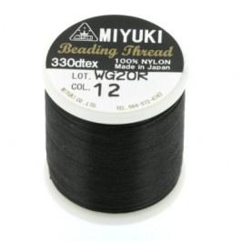 12 zwart Beading Draad B Miyuki