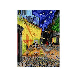 Caféterras bij Nacht Vincent van Gogh Voorbedrukt Stramien Deco-Line